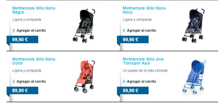 mothercare sillas de paseo