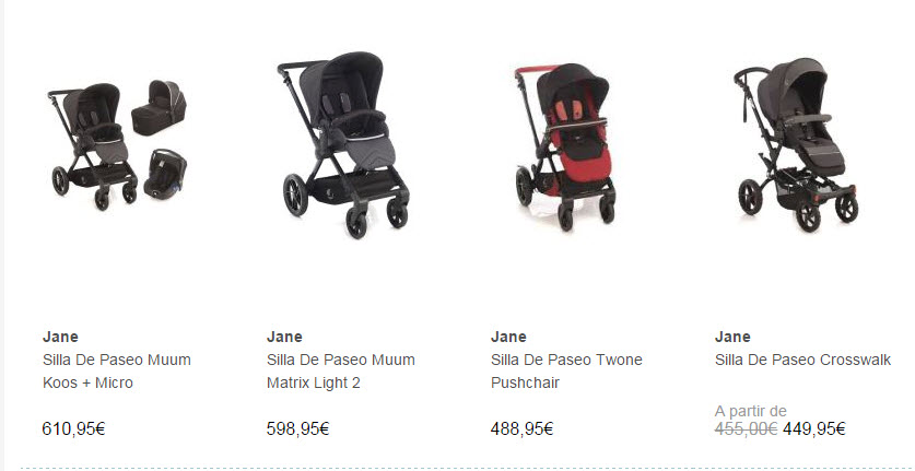 sillas de paseo baratas