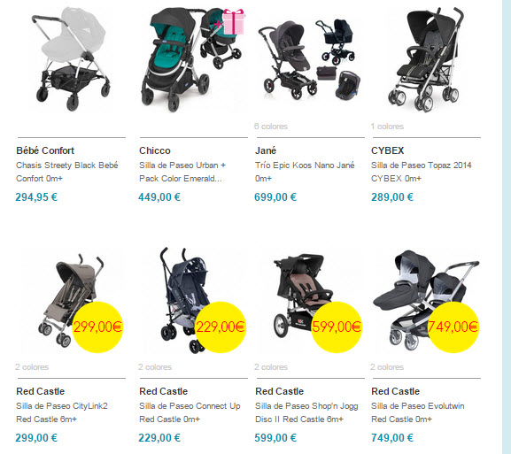 bebitus sillas de paseo