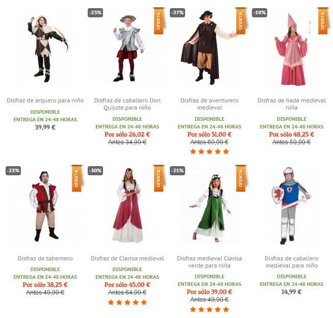funidelia disfraces medievales