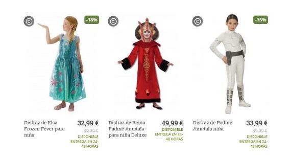 disfraces de carnaval precios
