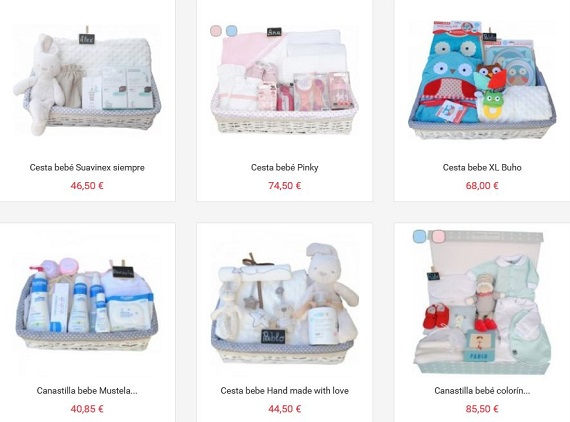 canastillas de bebé online