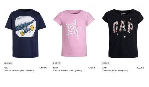 GAP camisetas