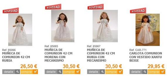 muñecas de comunión baratas
