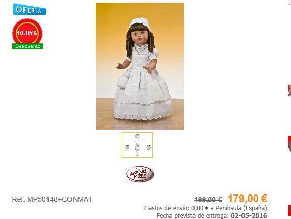 muñecas de comunión mariquita pérez