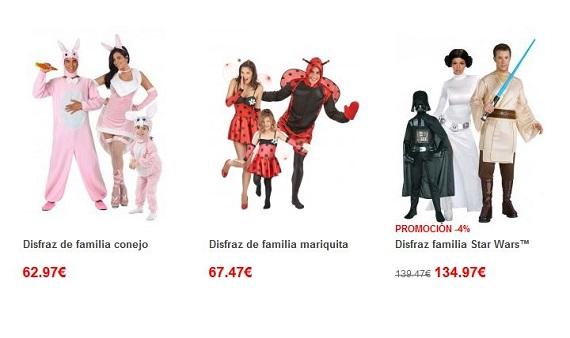 disfraces de carnaval para familias