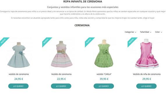 modaminis ropa de ceremonia niño