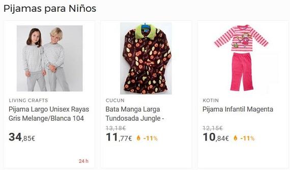 pijamas para niños baratos