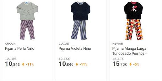 pijamas para niños precios