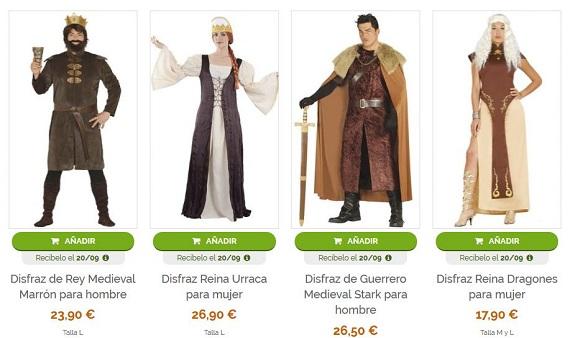 don disfraz disfraces medievales