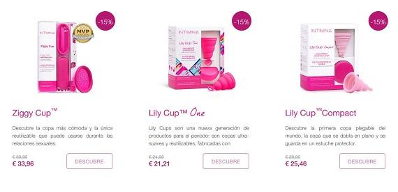 intimina copa menstrual precio
